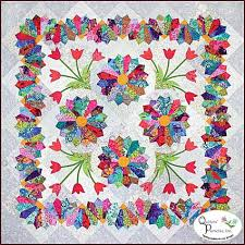 Dresden Flower Patch pattern by Colette Belt for Quilters ... & Dresden Flower Patch Pattern Designed by Colette Belt for Quilters'  Paradise -- Quilt Size: x A pieced scrappy background with appliqued Dresden  fans and ... Adamdwight.com