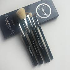 nightlife brush set five of sigma s famous brushes with gorgeous limited edition glitter handles the glitter is engrained in the brush so it won t