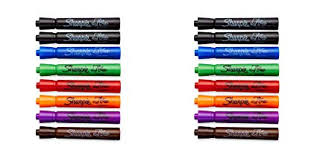 Flip Chart Markers Sharpie 22478 Flip Chart Markers Bullet Tip Assorted Colors 16 Count 2 Pack