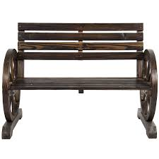 wood decorations for furniture. Amazon.com : Best Choice Products Patio Garden Wooden Wagon Wheel Bench Rustic Wood Design Outdoor Furniture \u0026 Decorations For N