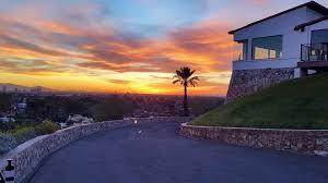 wrigley mansion sunset