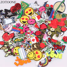 2019 <b>ZOTOONE</b> Mixed Random Patch Badges For Clothing Iron On ...