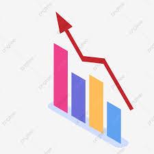 Business Vector Data Columnar Rising Arrow Analysis Chart