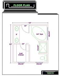 Delighful Master Bathroom Floor Plans 12x12 Best Images On Pinterest Layout And Creativity Design