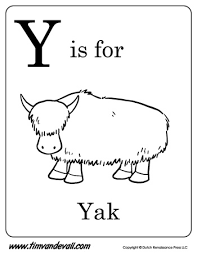 Small Picture Y is for Yak Letter Y Coloring Page Alphabet Book Black