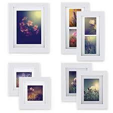 gallery perfect 7 piece white wood photo frame wall gallery kit includes frames  on wall art hanging hardware with amazon gallery perfect 7 piece white wood photo frame wall
