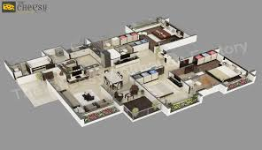 3d architectural floor plan