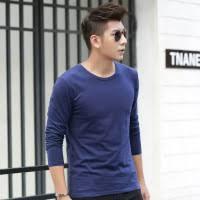 <b>2018 autumn men's</b> long sleeved T-<b>shirt</b>, round neck, pure cotton ...