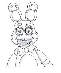 Fnaf Coloring Pages Toy Bonnie