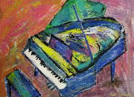 piano painting piano blue by anita burgermeister