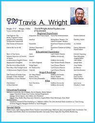Theatre Resume Templates Amazing 48 Best Theatre Resume Example Resume Template