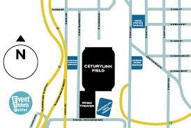 Map Of Parking Near The Centurylink Field In Seattle