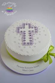 Communion Cake For Twins Maria And Jan Butterfly Rainbow