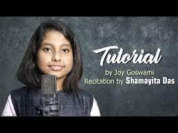 tutorial by joy goswami recitation