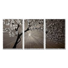 shop silver moon 3 by osnat metal wall art on sale free shipping today overstock 11547906 on silver metal wall art trees with shop silver moon 3 by osnat metal wall art on sale free shipping