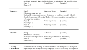 Manager Resume Template Microsoft Word Students Resume