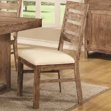 elmwood 6 piece dining set in wire brushed nutmeg finish by coaster 105541