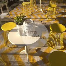 yellow and white chevron outdoor rug
