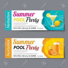 Party Ticket Template Summer Pool Party Ticket Template Royalty Free Cliparts Vectors 1