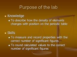 Periodic Trends in Density Required Laboratory Skills. - ppt download