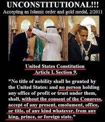 Meme says Barack Obama's acceptance of an 'Islamic order and gold ... via Relatably.com
