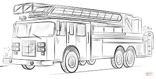 Small Picture Fire truck with ladder coloring page Free Printable Coloring Pages