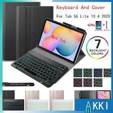 Giá bán Bao da máy tính bảng PU có bàn phím kèm giá đỡ bút cho Samsung  Galaxy Tab S6 Lite 10.4 inch 2020 Case SM-P610 SM-P615