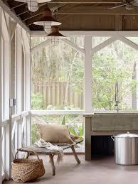 mountain style screened in porch idea in atlanta