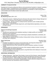 Senior Marketing Resume Sample