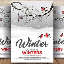 Winter Flyer Psd Template For Free Download On Pngtree