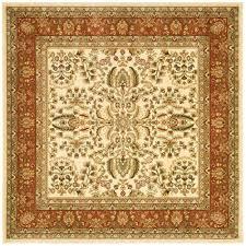 safavieh lyndhurst ivory rust 10 ft x 10 ft square area rug