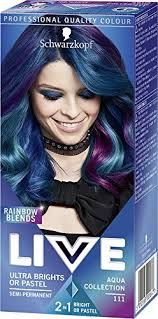 Schwarzkopf Ultra Brights Live Hair Colour 111 Aqua Collection Pack Of 3