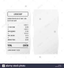 receipt blank sales printed receipt white paper blank vector shop reciept or bill