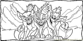 Small Picture Shenzi And Friends Coloring Page Free The Lion King Coloring