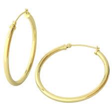 914k Yellow Gold Filled Lightweight Endless Hoop Earrings in 34mm