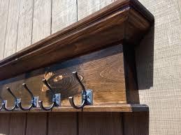 Rustic Wall Coat Rack With Shelf 100 Hook Wall Shelf Woodland Imports 100 Wall Mounted Hook Coat 83