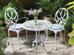 white iron outdoor furniture. Simple Outdoor White Metal Furniture For Garden Decoration To Iron Outdoor