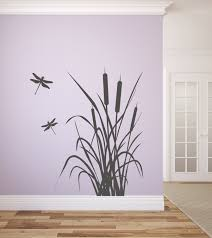 Dragonflies Wall Decor Dragonfly And Cattails Vinyl Wall Decal Graphics Bedroom Home