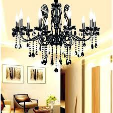black chandeliers
