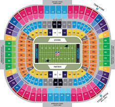panthers stadium map  map of panthers stadium (north carolina  usa)