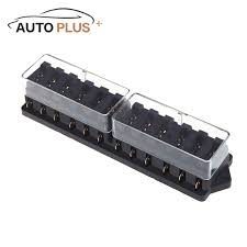 online get cheap universal car fuse box aliexpress com alibaba universal car truck vehicle 12 way circuit automotive middle sized blade fuse box block holder