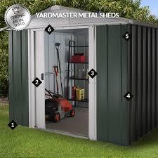 6 x 6 yardmaster green metal shed