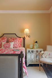 traditional bedroom ideas green. Baroque Coral Comforter Convention Los Angeles Traditional Bedroom Decorating Ideas With Beige Bed Rug Wall Green R
