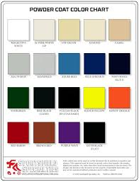 Bike Paint Colour Chart Color Charts Sportsfield Specialties