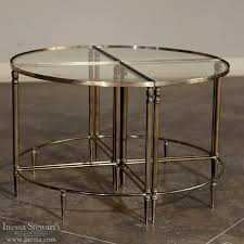 mid century french solid brass
