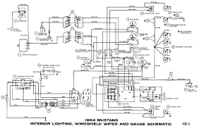 1966 ford mustang wiring diagram & enlarged wiring schematic\