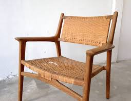 Hans J Wegner For Johannes Hansen Teak Cane Easy Chair 1951 At