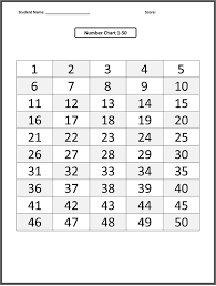 1 50 Number Chart Loving Printable