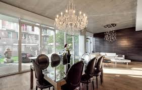 modern contemporary dining room chandeliers artistic dining room design with rectangular glassed dining table and
