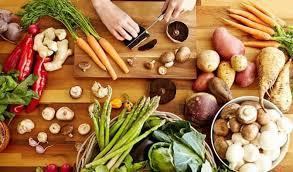 cutting board with food. Cutting Board With Food